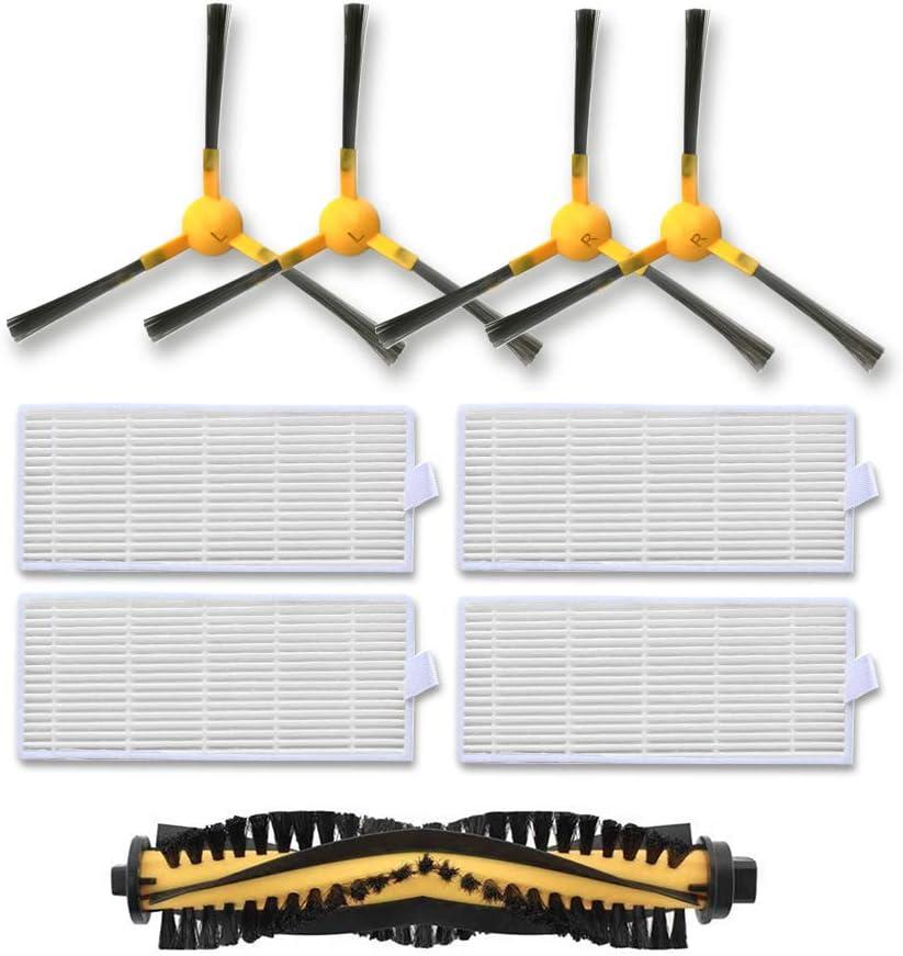 Tesvor Robot Vacuum Accessories Parts for X500 Robotic Vacuum Cleaner - Filter, Brush