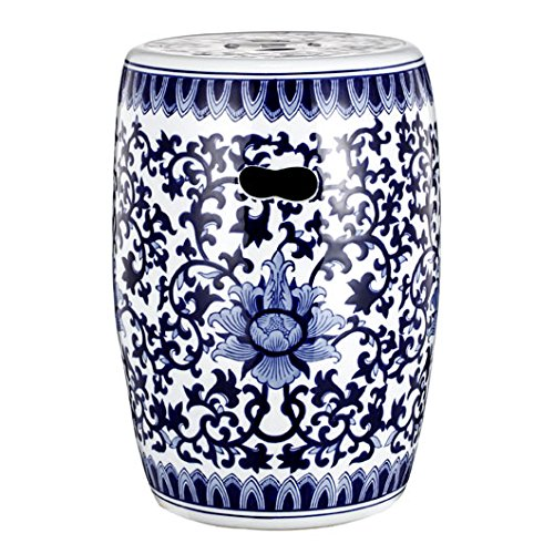 A&B Home Group Blue & White Ceramic Garden Stool 11