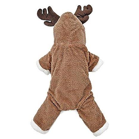 Sundatebe - Disfraz de reno para perro, para perro, diseño de ...