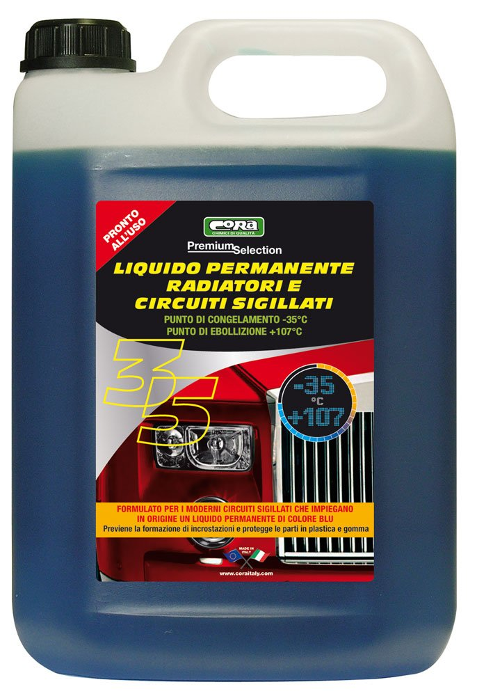 CORA 0035 Liquido Radiatori Auto, -35° C, Blu -35°C Cora S.p.A