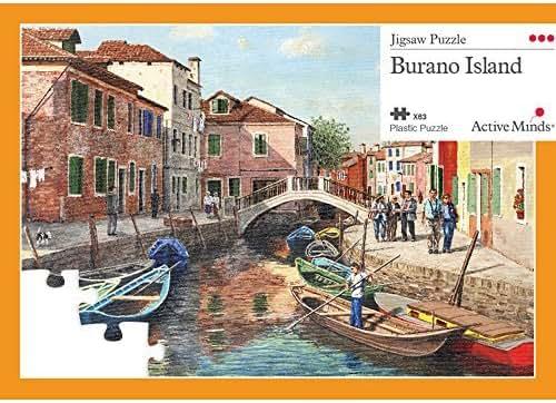 Active Minds 63 Piece Burano Island Jigsaw Puzzle | Specialist Alzheimer's/Dementia Activities & Games