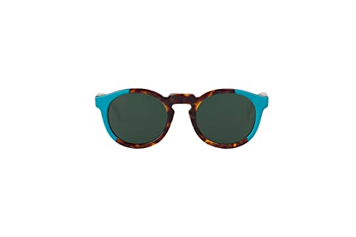 MR.BOHO, Turquoise/cheetah tortoise jordaan with classical lenses - Gafas De Sol unisex multicolor (...