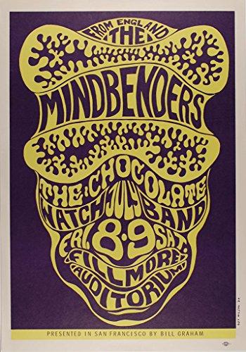 Mindbenders 1966 Concert Poster, Fillmore Auditorium *Mint Condition* Bg-16