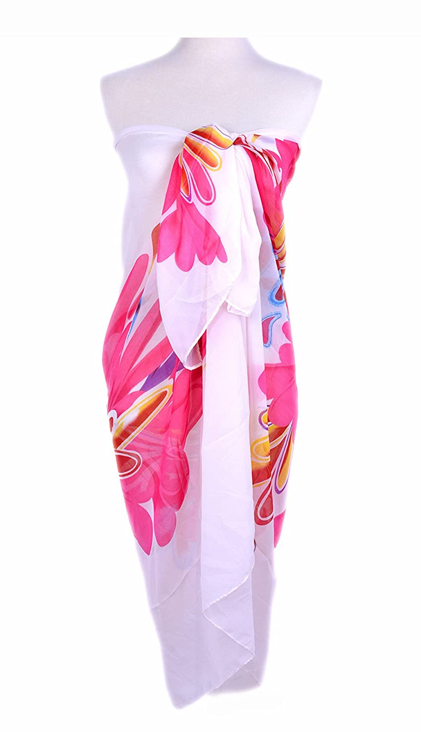 Girl Elegant Shawl Super Lightweight Chiffon Cover up Swimwear Sarong DIY Beach