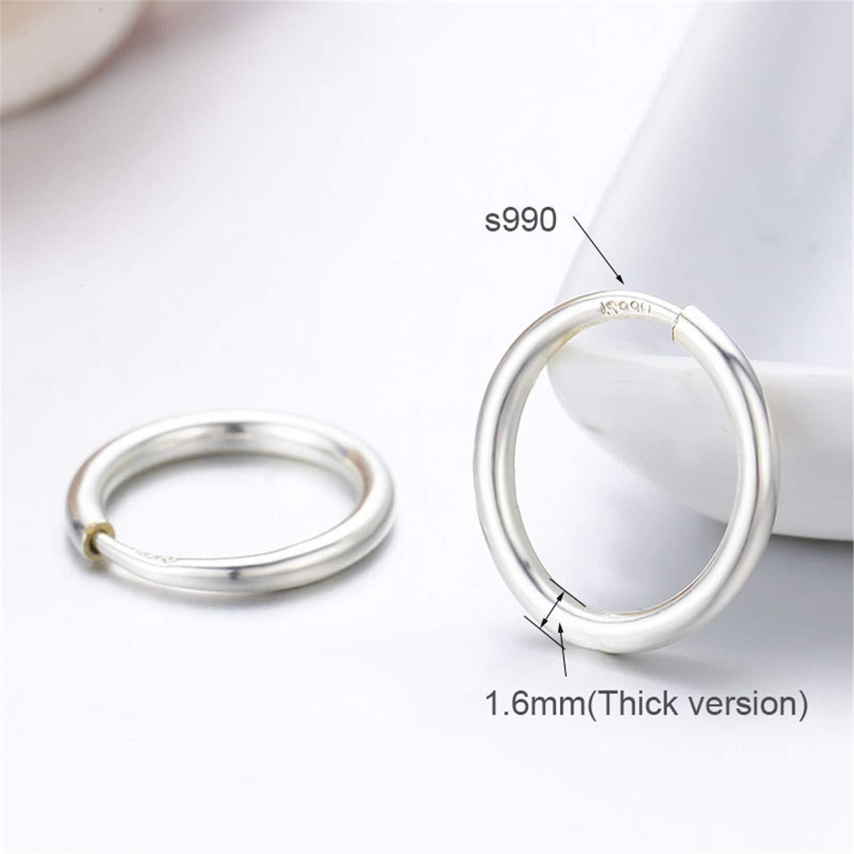Zcaosma Sterling Silver Circle Loop Slim Small Endless Round Hoop Earrings For Women Girls Kids Children Jewelry