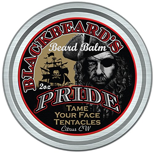 Blackbeard Beard (BlackBeard's Pride Beard & Mustache Balm, Leave-in Hair & Skin Conditioner, All Natural Pure Botanicals, Butters, and Essential Oils, Suitable for all Beard and Mustache Types, Cedarwood Citrus Scent.)