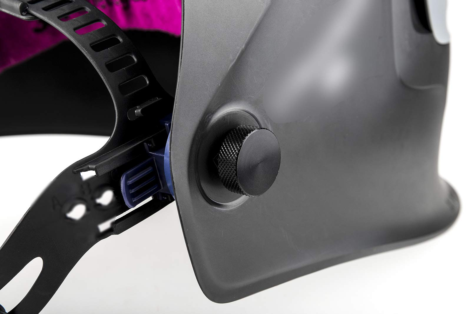 3mirrors Welding Hood (Pipeliner) Helmet Fasteners Aluminum - 1 Pair (Black Anodized Knurled) by 3mirrors (Image #3)