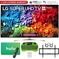 LG 65SK9500PUA 65 Super UHD 4K HDR AI Smart TV w/Nano Cell (2018 Model) + Free Hulu $100 Gift Card + 1 Year Extended Warranty + Flat Wall Mount Kit Ultimate Bundle + More