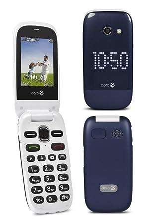 Doro Phoneeasy 632 Blue Bleu Téléphone Portable à Clapet