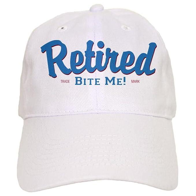 a5e64e6bc08 Amazon.com  CafePress - Funny Retired Bite Me Retirement Cap - Baseball Cap  with Adjustable Closure