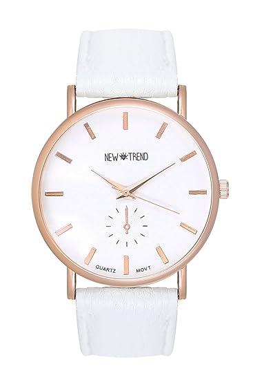 Trend reloj 2015 blanco diseño reloj de pulsera para mujer cronógrafo de imitación de oro rosa de oro rosa de oro rosa pulsera de oro colgante de imitación ...