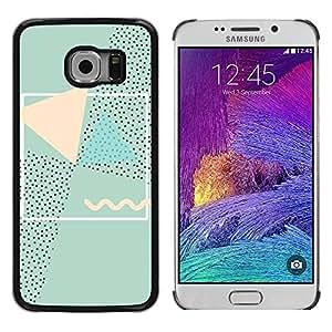 PC/Aluminum Funda Carcasa protectora para Samsung Galaxy S6 EDGE SM-G925 Abstract 90'S Art Pink Green / JUSTGO PHONE PROTECTOR