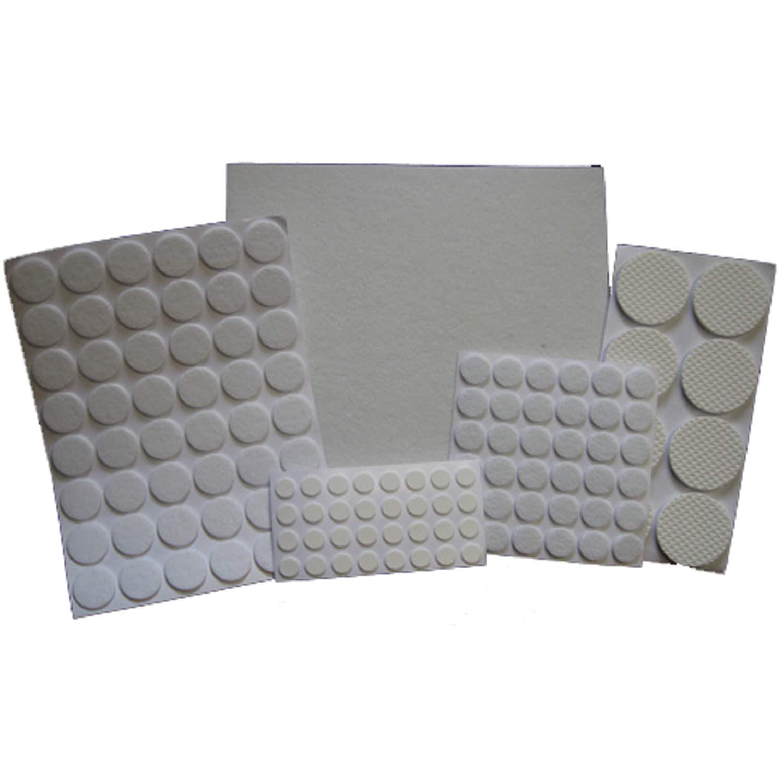 Felt gliders / felt furniture glides, self adhesive, 125 pieces Land-Haus-Shop 20277