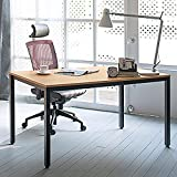Need Computer Desk 55 inches Large Size Office Desk Workstation for Home & Office Use, Teak AC3BB-140