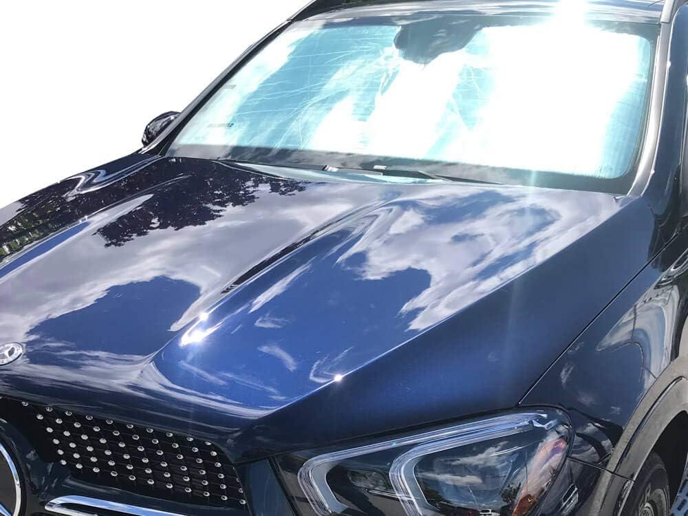 Custom-fit Windshield Sun Shade AutoTech Zone Sunshade for 2016-2019 Mercedes GLE