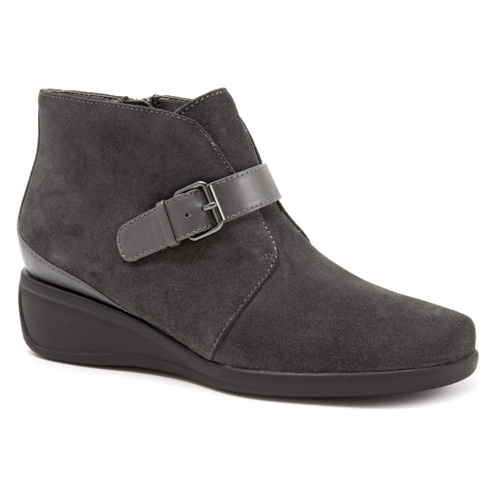 Trotters Women's Mindy Ankle Bootie B019QU8N9O 8.5 B(M) US|Dark Grey Cow Suede Leather
