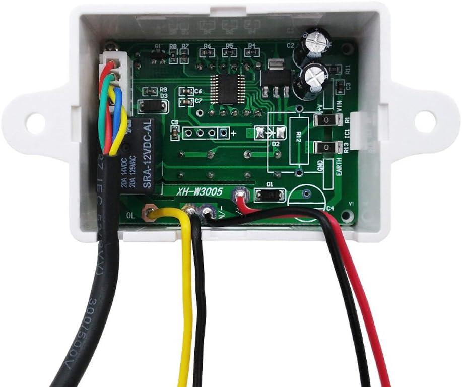 12V-220V Digitaler Feuchtigkeitsregler Schalter Hygrostat Hygrometer Sensor