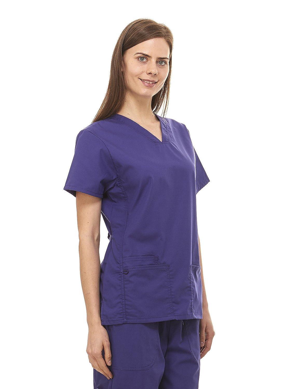 97402488890 Amazon.com: Denice Womens Medical Uniforms Infinity V Neck Utility Nurses  Scrub Set 1098 (Large, Grape): Clothing