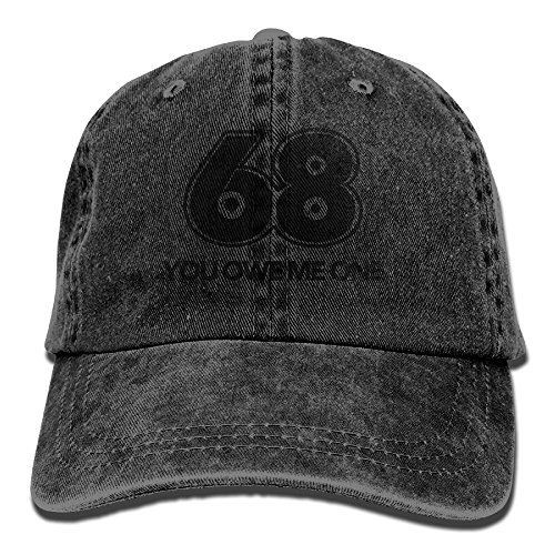 Qbeir You Owe Me One Adjustable Adult Cowboy Cotton Denim Hat Sunscreen Fishing Outdoors Retro Visor Cap