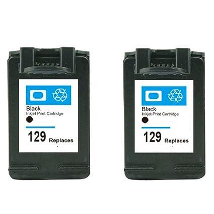 hisaint 2 Pk para HP 129 negro impresora cartuchos de tinta ...