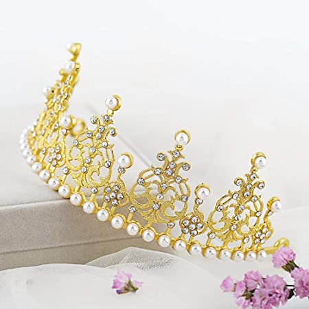 Ogquaton Novia Gran Corona Joyería Tocado Corona Cumpleaños ...