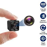 Mini Spy Camera, Hidden Camera 1080P, Nanny Cam Full HD with Night Vision Motion Activation for Indoor Outdoor Covert…