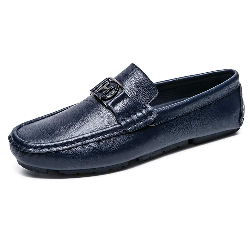 NXY De los Hombres Casual Moda Cuero Mocasín Pisos Ponerse Conducción Mocasines Zapatos del Barco: Amazon.es: Zapatos y complementos