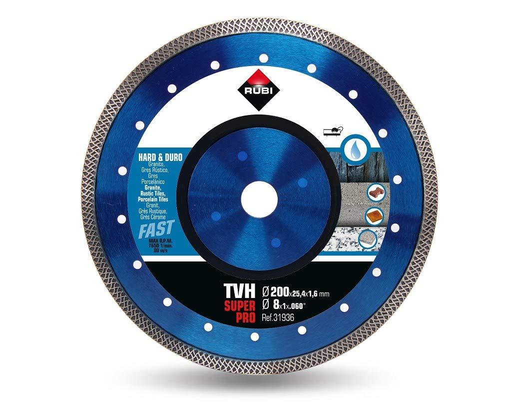 200 mm Rubi 31936 Turbo Viper Diamantscheibe f/&uumlr hartes Material