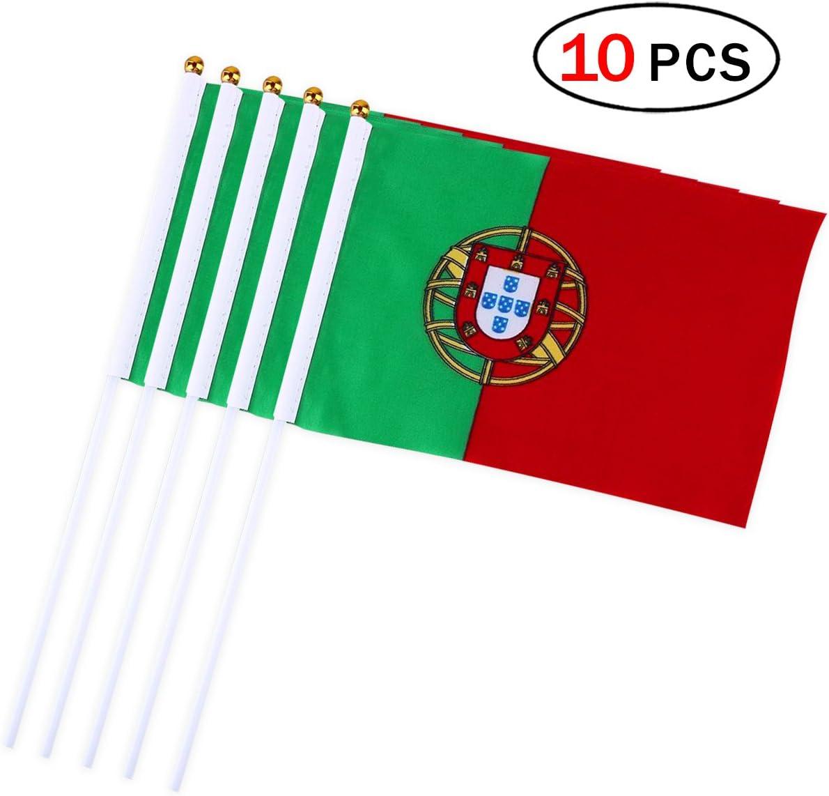 Banderas Pequeñas,Banderas de Mano,Bandera de Portugal con 14 x 21 ...