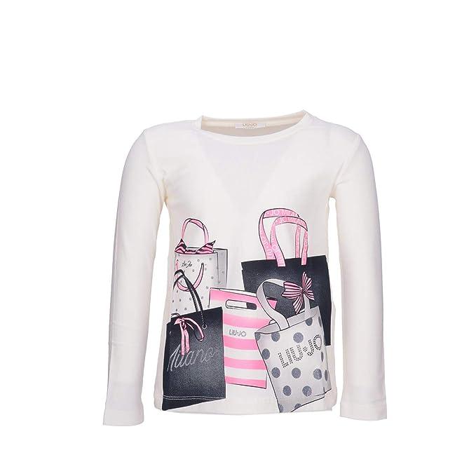 Liu.Jo T-Shirt K68126J0088 Bianco 2A 20  Amazon.it  Abbigliamento aa13638c71c