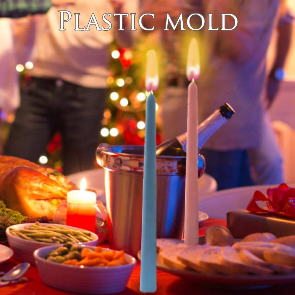 Morningtime Moldes de Velas para Verter Velas de Pilar de Navidad Aroma Moldes de jab/ón de Yeso Moldes de fabricaci/ón de Velas artesanales Reutilizables de Bricolaje