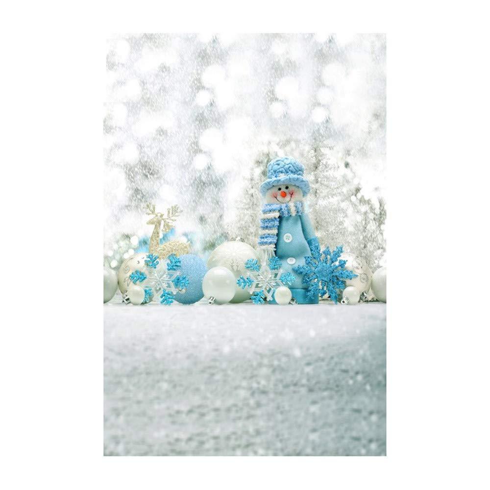 B kingko /3x5FT Weihnachts Hintergr/ünde Fotografie Winter Wooden Glitzer Fotohintergrund Weihnachten Christmas Photoshooting Backdrop Backdrops Schneemann Vinyl Foto