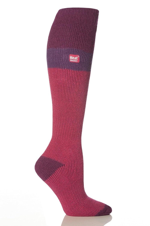 1 Paar Damen Original thermisch Wärmehalter Ski Socken 4-8 uk, 37-42 EUR, 5-9 usa Fuchsia / Lila / Himbeere