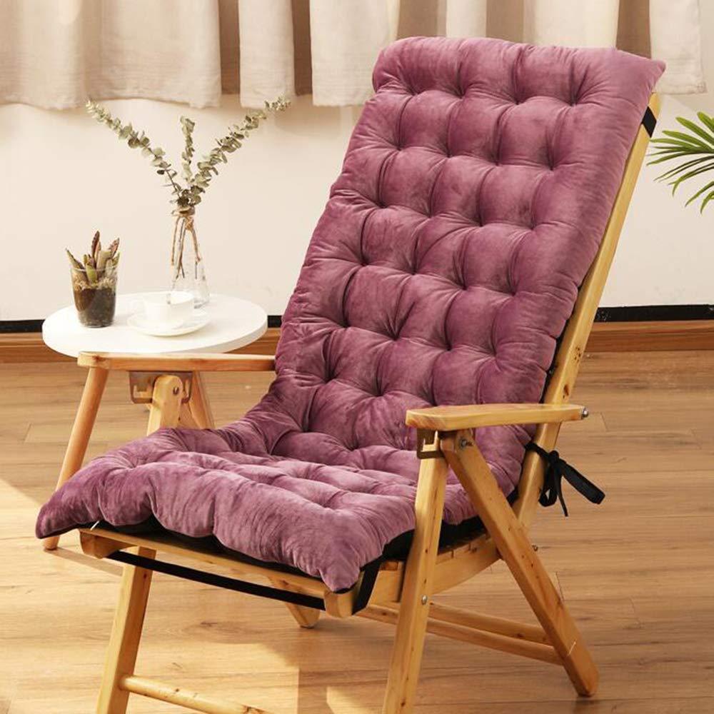 ZGYQGOO Indoor Outdoor Lounge Chaise Kissen, Terrasse Liegestuhl Kissen, Sonnenliege Matratze rutschfeste Einfarbig Für Gartensofa Tatami Auto Bank (nur Kissen) -lila 125x50x10cm (49x20x4inch)