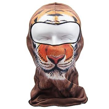 Elegante 3d animal impresión Full Face máscara de esquí capucha pasamontañas gorro de natación Fast Dry