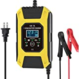 Luoges Car Battery Charger/Maintainer 12V / 7A | New Upgrade 7-Stage Automatic Pulse Repair Battery Charger for ATVs/Golf Car