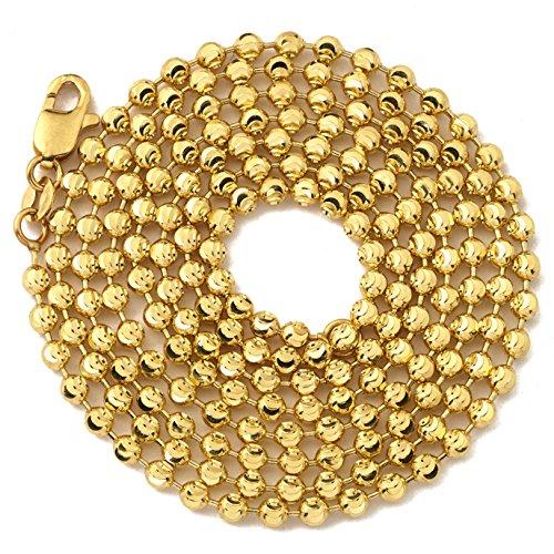 100 Diamond Cut Bead Chain - 5