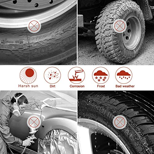 Kohree Tire Covers Tire Protectors RV Wheel Motorhome Wheel Covers Sun Protector Waterproof Aluminum Film, Cotton Lining Fits 30'' to 32'' Tire Diameters Set of 4 by Kohree (Image #2)