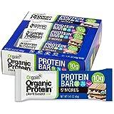 Orgain Organic Protein Bar, S'Mores, Vegan, Gluten Free, Non-GMO, USDA Organic, 1.41 Ounce, 12 Count