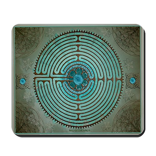 CafePress - Celtic Labyrinth Digital Art Mousepad - Non-slip Rubber Mousepad, Gaming Mouse Pad