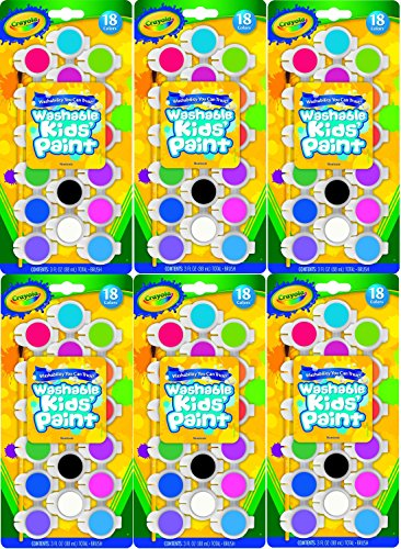Crayola 54 0125 Assorted Colors Washable