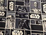 Black Star Wars/ Darth Vader/ R2D2 Shopping Tote/ Market Bag 14x18 inches
