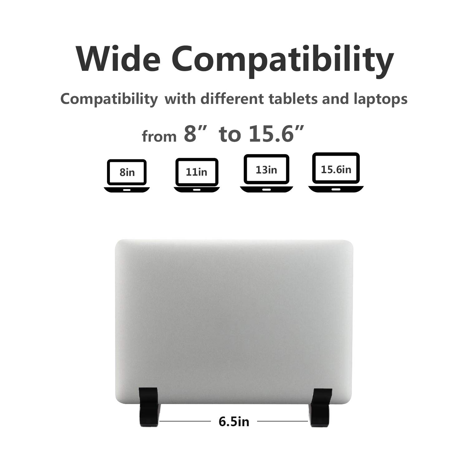 Laptop Stand Adjustable Tablet Stand Ergonomic Folding Laptop Stand Holder Lightweight Cooling Gaming Riser Compatible for 8 to 15.6 Macbook,Notebook,Computer,Travel,Laptop Cooler Tray White