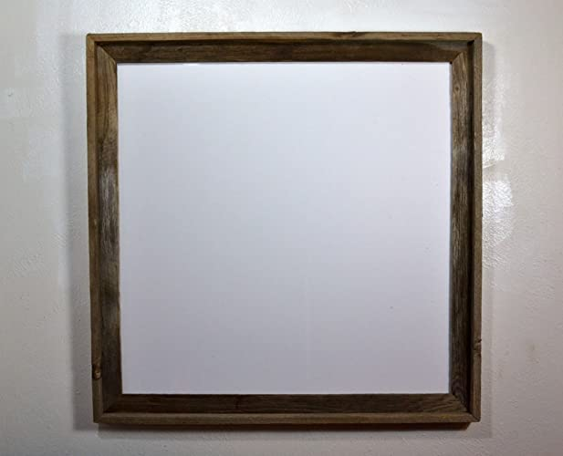 Amazon.com: 24x24 Picture Frame Reclaimed Wood Wall Hung With ...