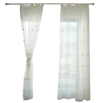 Amazonde Bber Weißer Vorhang Vorhang Garten Wind Schlafzimmer