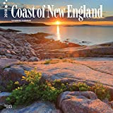 Coast of New England 2018 12 x 12 Inch Monthly Square Wall Calendar, USA United States of America Scenic Nature Ocean Sea Coast