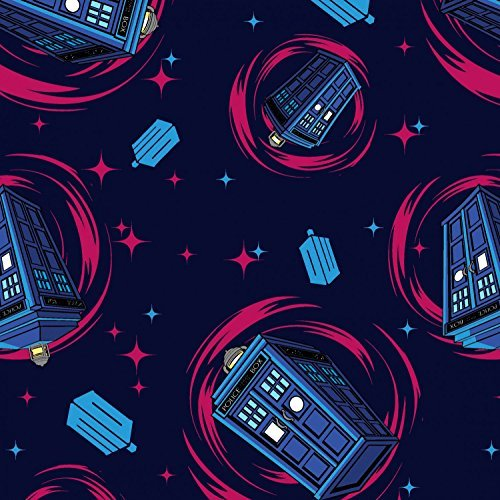 BBC Dr. Who Tardis Police Box Cotton Print By the Yard Doctor - Who Hut