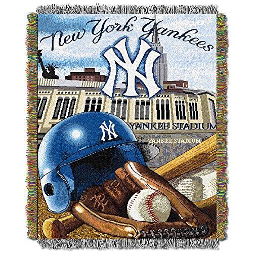 New York Yankees Tapestry Throw - Northwest New York Yankees MLB Woven Tapestry Throw (Home Field Advantage) (48x60) Nor2NYY-051HFA
