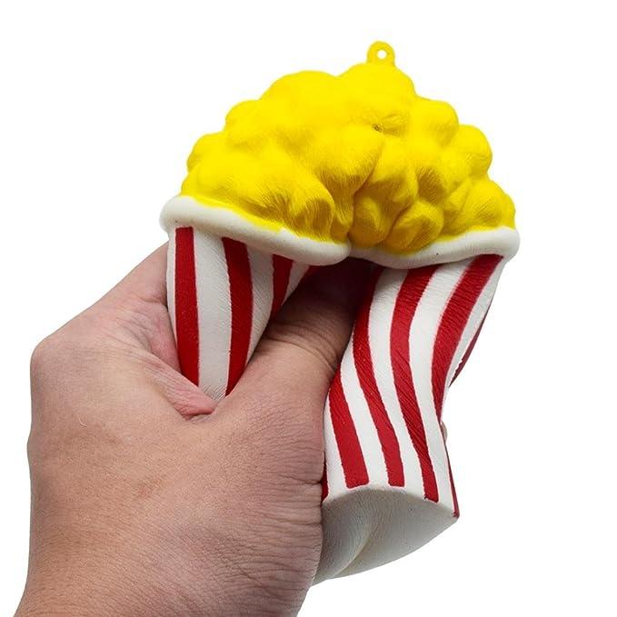Juguetes compresivos, ❤ ❤ ❤ Sonnena Squishies Kawaii Juguetes lindo Taza de palomitas de maíz Squishy Squeeze Toy Slow Rising Decompression Toys ...