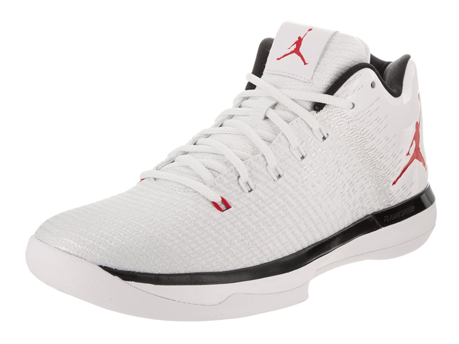 b2f668da145f Jordan Nike Mens Air XXXI Low White University Red Black Basketball Shoe 11  Men